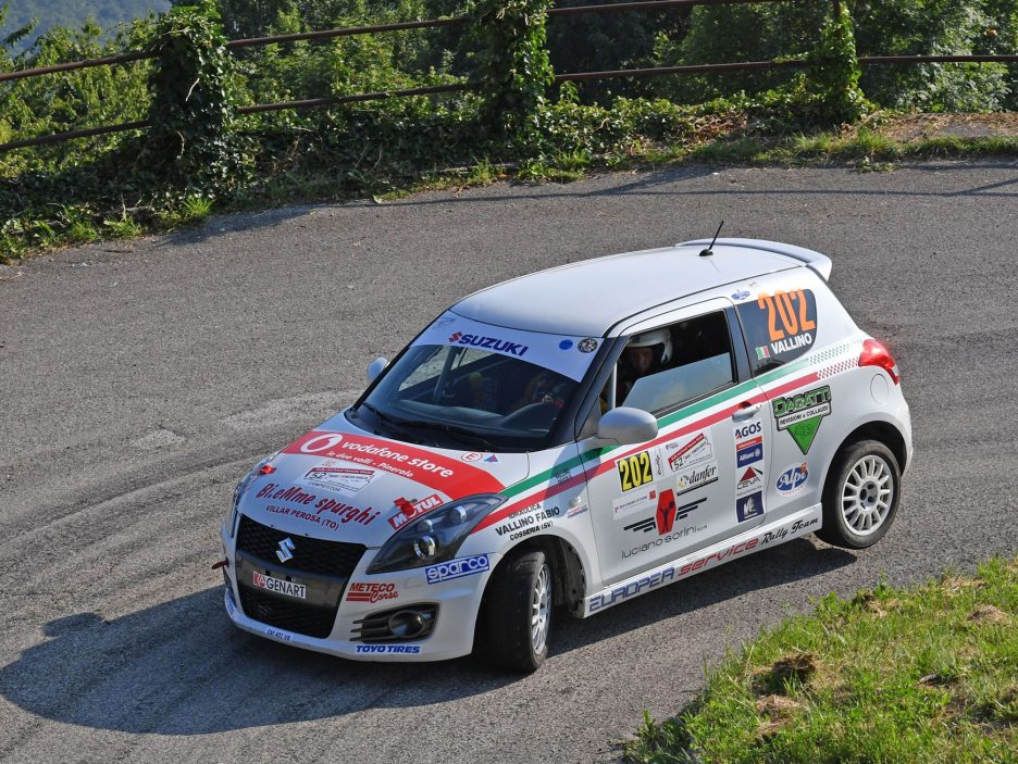 Claudio Vallino Suzuki Swift Rally Friuli 2016