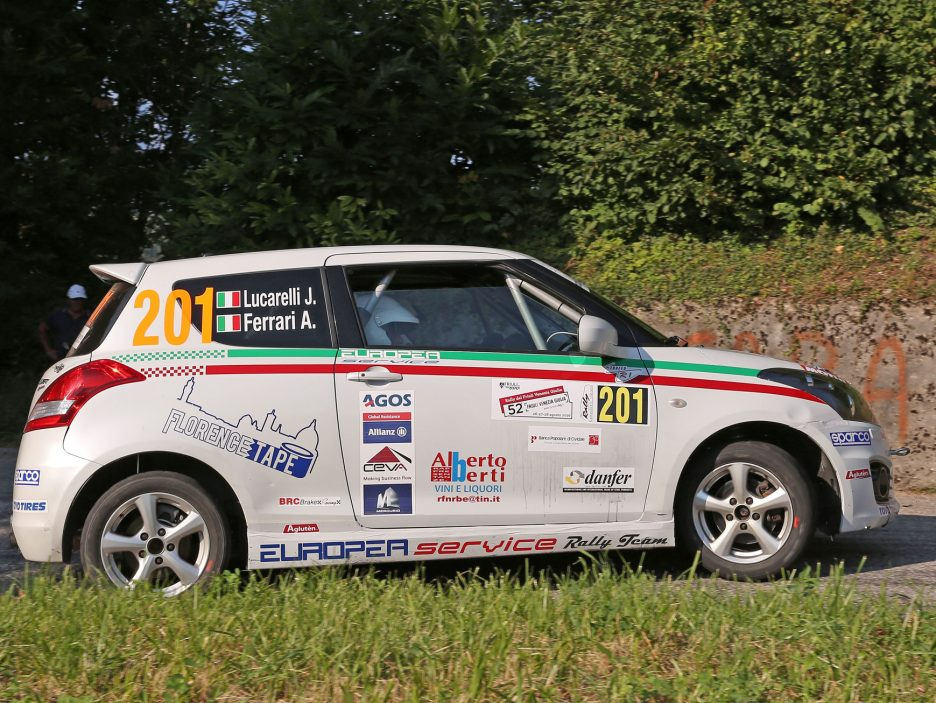 Jacopo Lucarelli Suzuki Swift Rally Friuli 2016