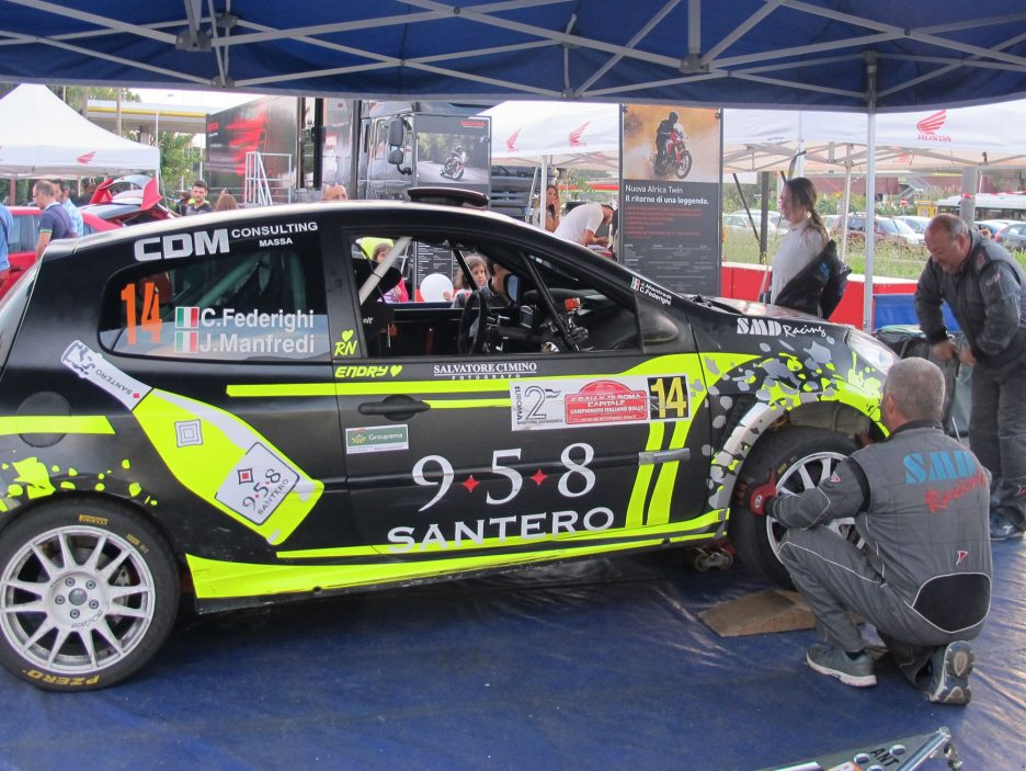 Corinne Federighi Renault Clio Rally Roma 2016