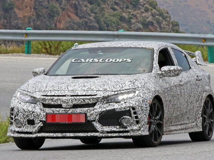 Honda Civic Type R 2017, foto spia
