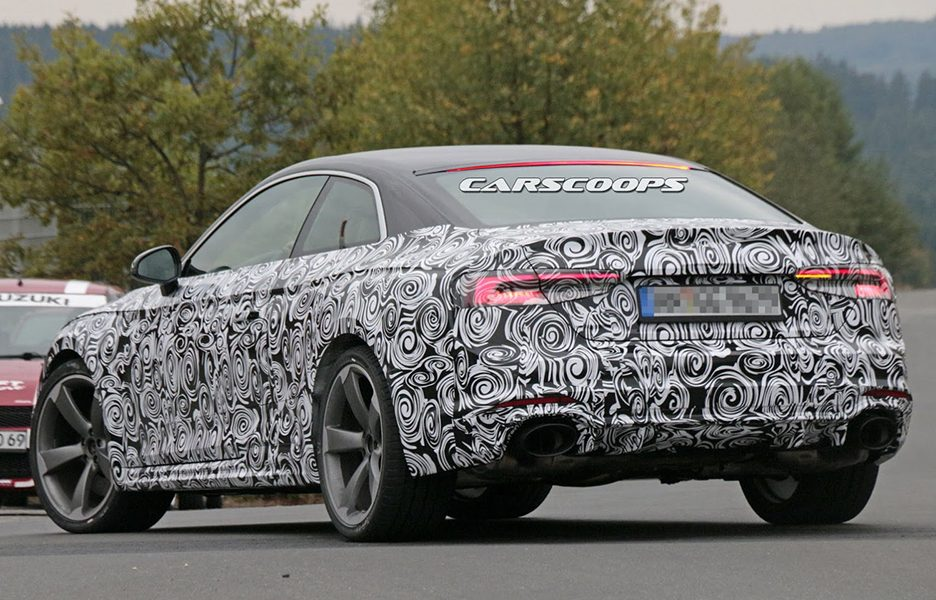 Audi RS5 Coupe 2017, foto spia