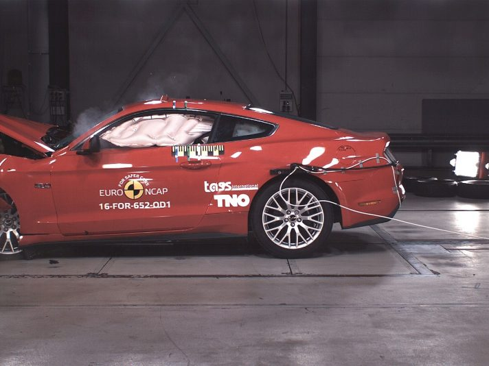 Crash test Euro NCAP: solo due stelle per la Ford Mustang