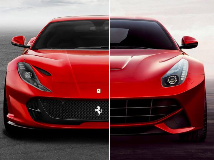 Ferrari 812 Superfast vs F12 Berlinetta: stile a confronto