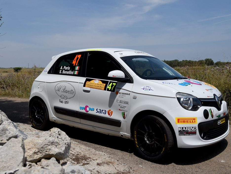Alberto Paris Renault Twingo Rally Salento 2017