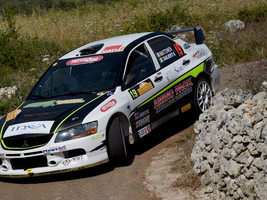 Mattonen Mitsubishi Lancer Rally Salento 2017