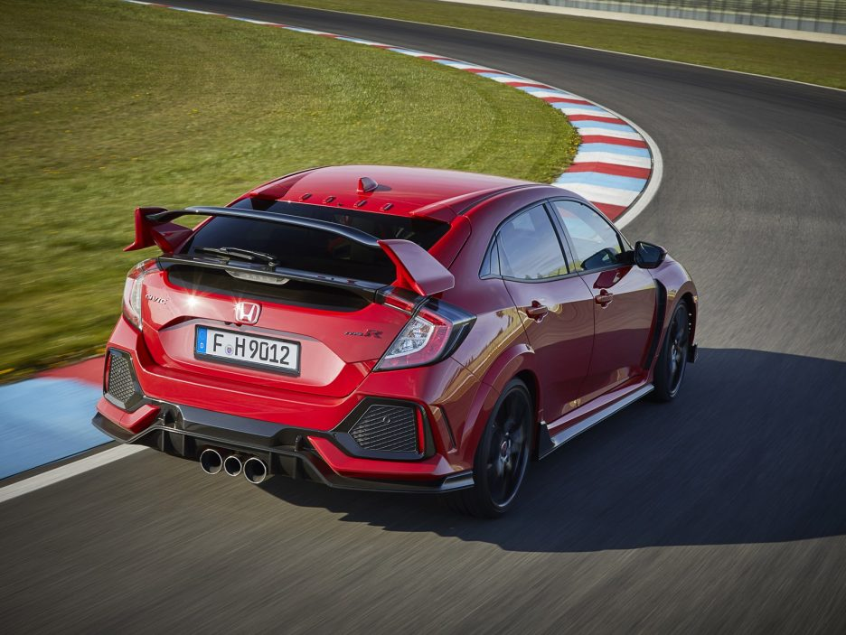 Honda Civic Type R tre quarti posteriore 2