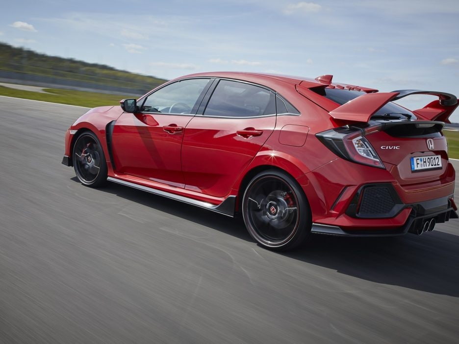 Honda Civic Type R tre quarti posteriore