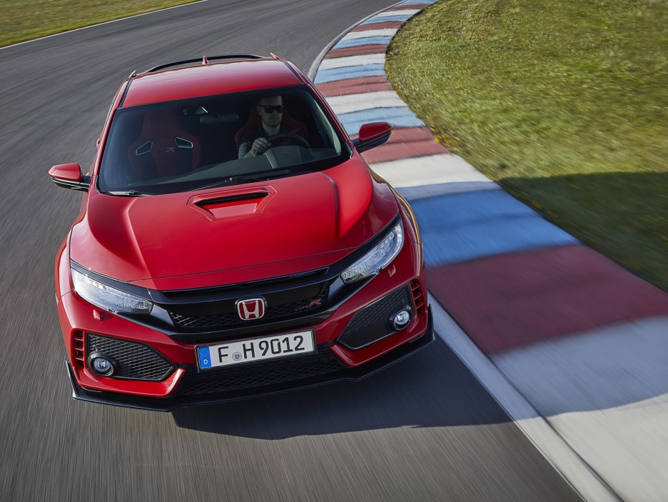 Honda Civic Type R vista dall'alto