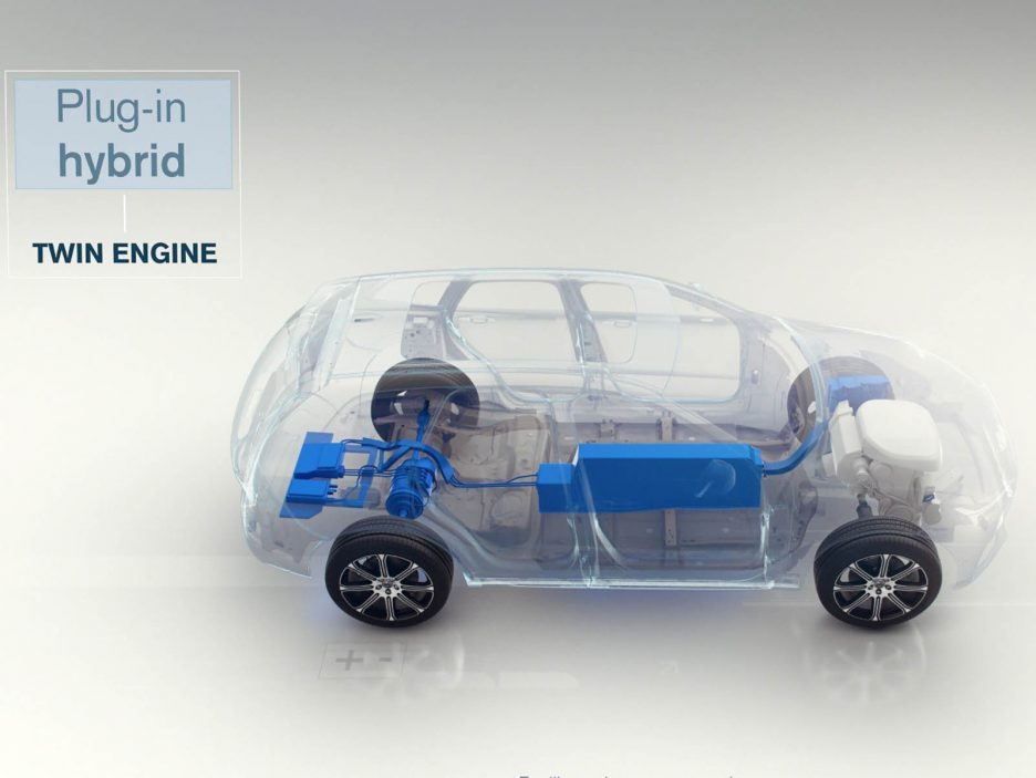 Still from animation - Plug-in hybrid, Twin Engine