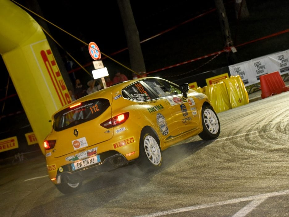 Riccardo Canzian, Matteo Nobili (Renault Clio R3T #112, Winners Rally Team)