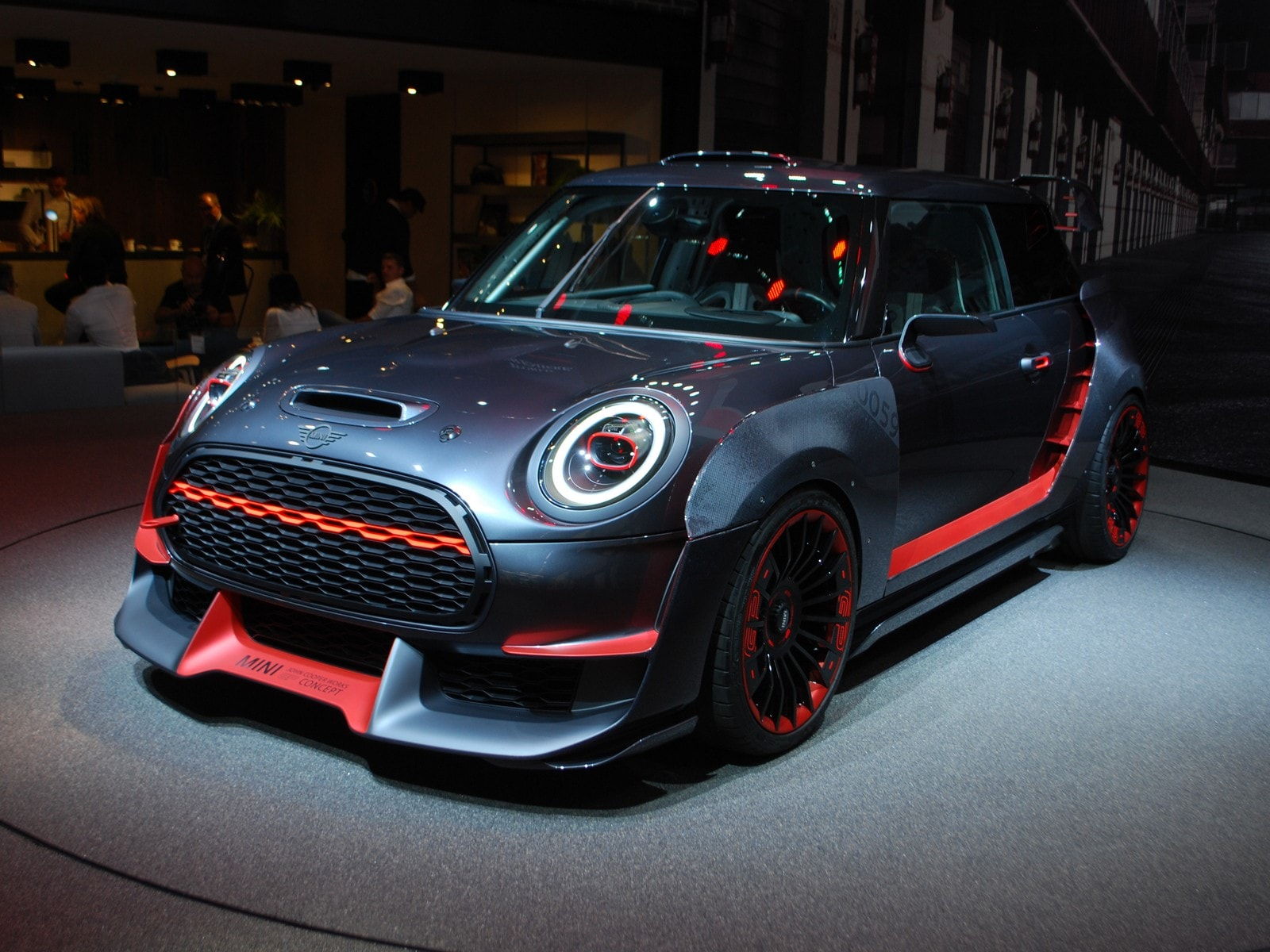 mini con due concept john cooper works gp ed electric francoforte 2017 le foto panoramauto. Black Bedroom Furniture Sets. Home Design Ideas