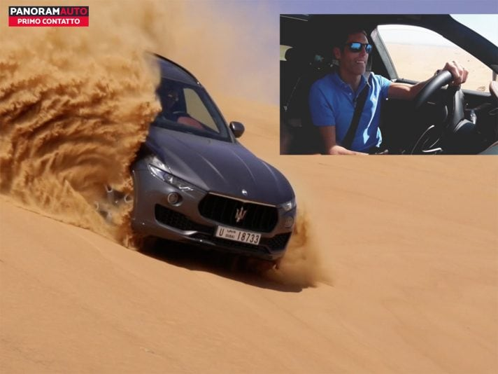 Maserati Levante my 2018, il test nel deserto di Dubai (VIDEO)