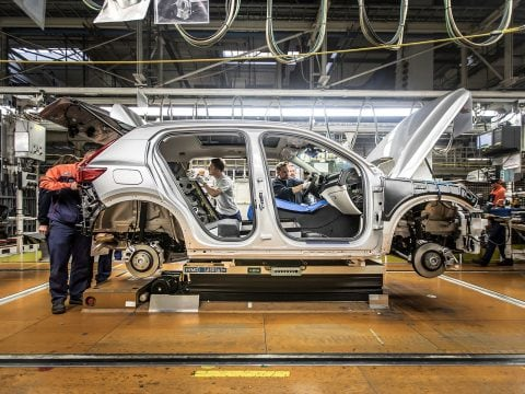 Pre-production of the new Volvo XC40 in the manufacturing plant