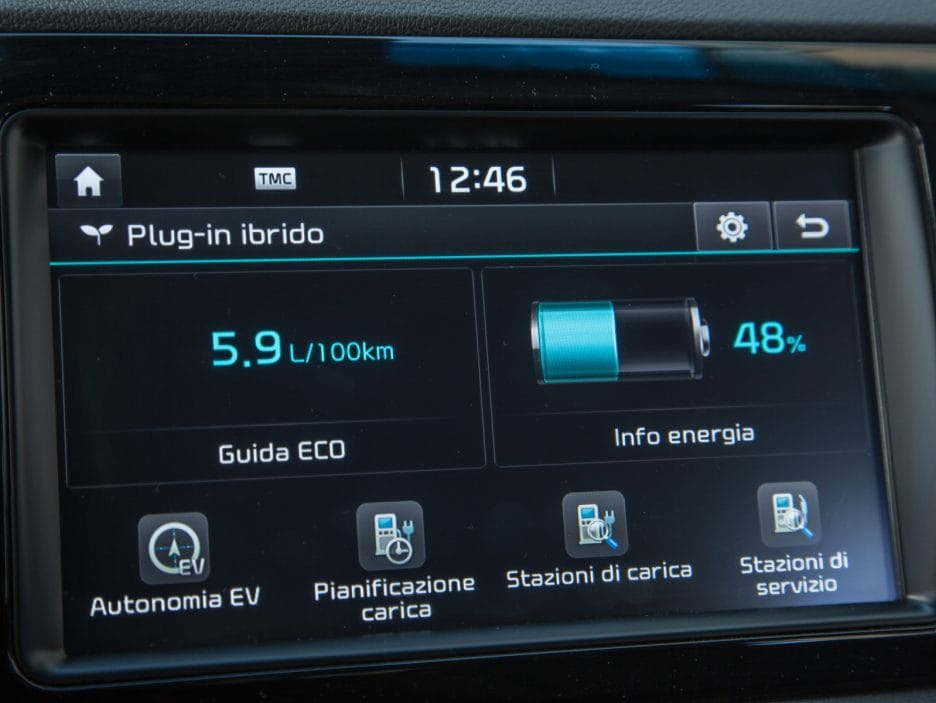 Kia Niro PHEV display