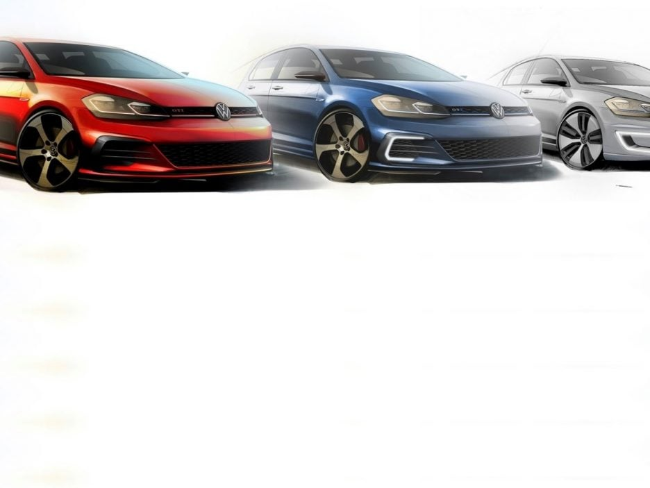 Volkswagen Golf settima generazione GTI Performance GTE e e-Golf design