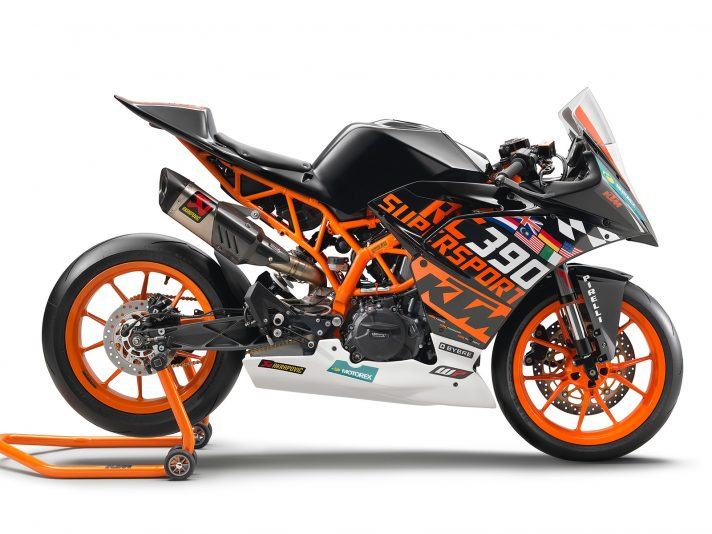 KTM RC 390 R, pronta per le gare con il kit Race