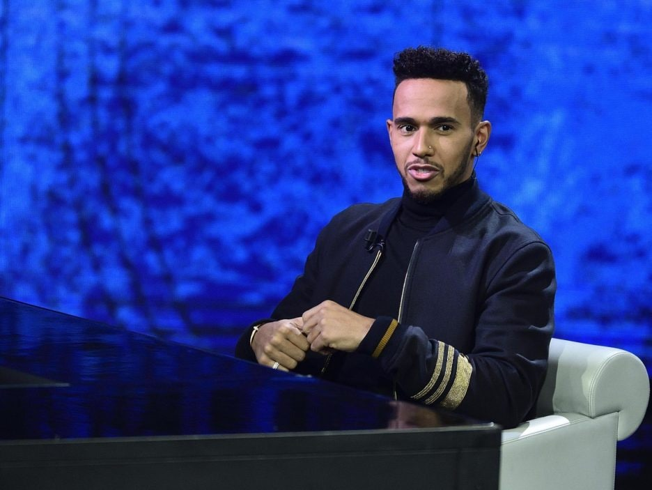 Lewis Hamilton at 'Che tempo che fa' TV Show in Milan
