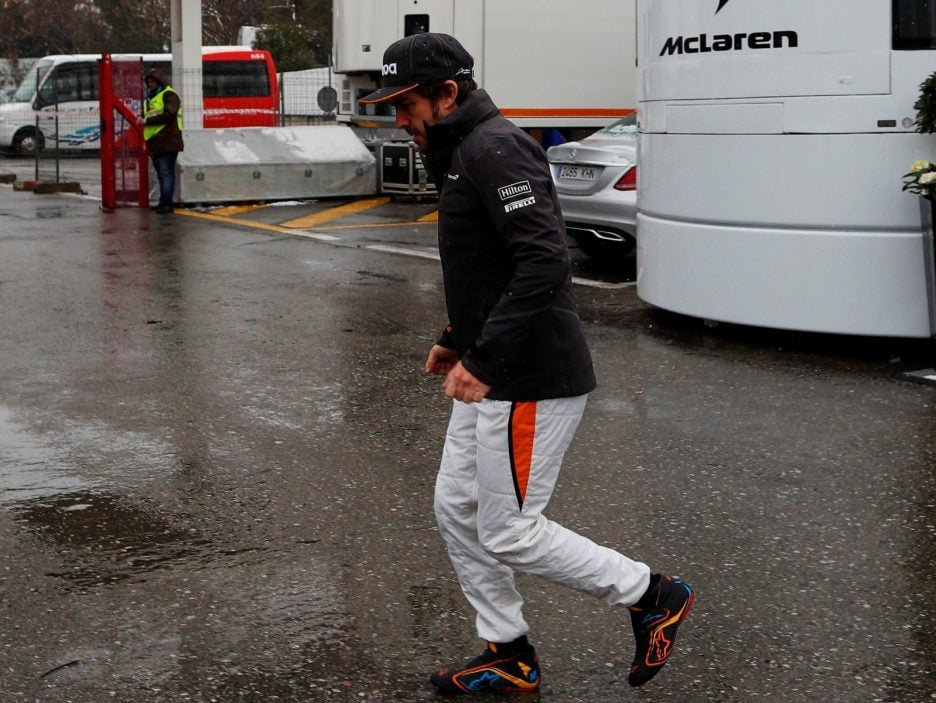 F1 Test Day has been suspended due to the weather conditions