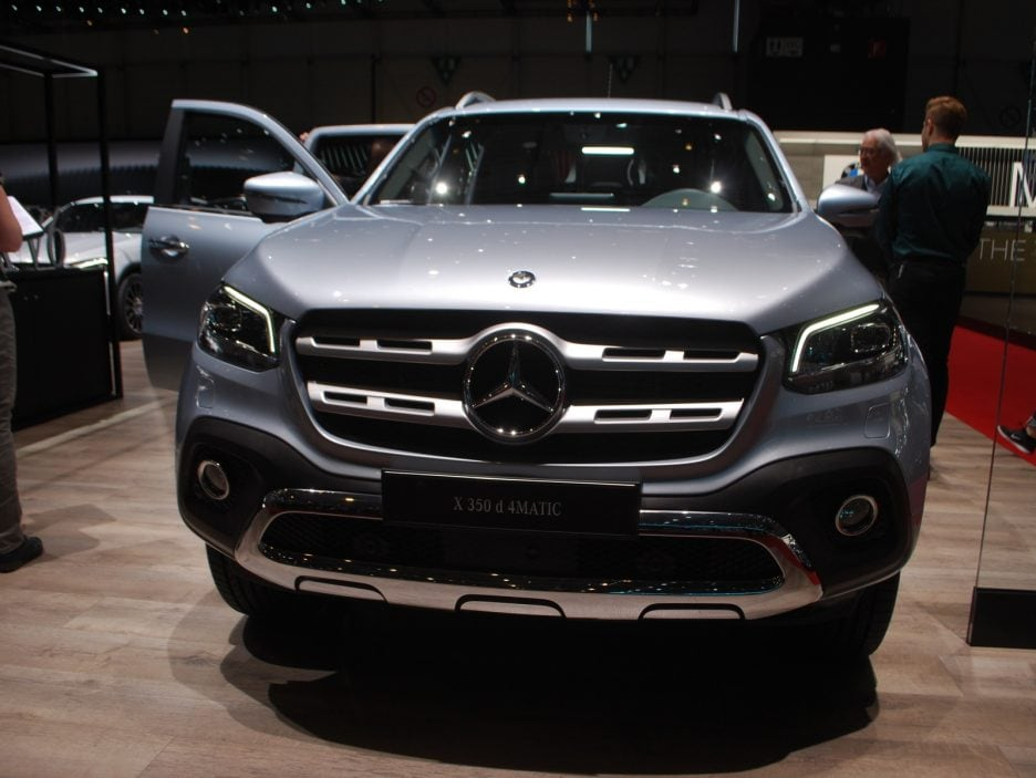 Mercedes X 350 d frontale - Ginevra 2018