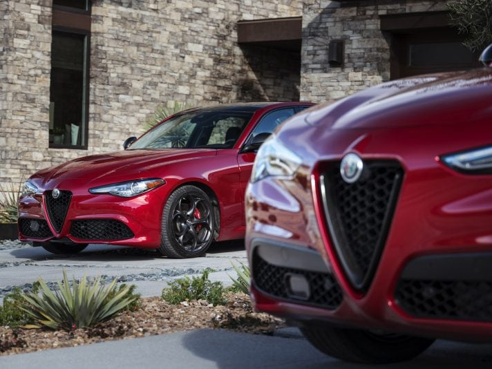 Alfa Romeo's Nero Edizione package for 2.0L Giulia and Stelvio