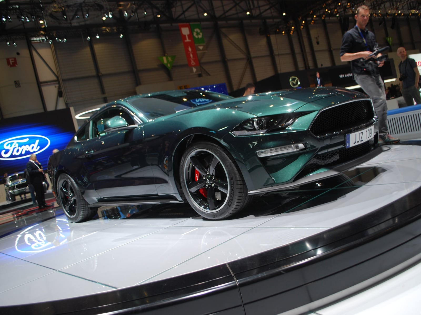 ford mustang bullitt a ginevra 2018 ginevra 2018 le foto dagli stand panoramauto. Black Bedroom Furniture Sets. Home Design Ideas