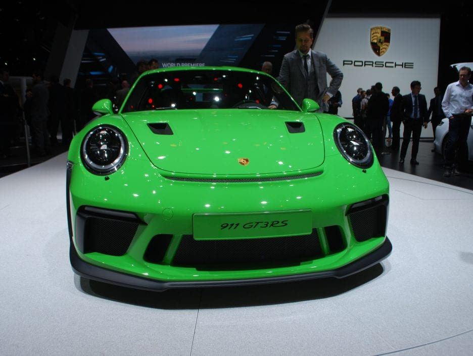 Porsche 911 GT3 RS restyling frontale 2 - Ginevra 2018