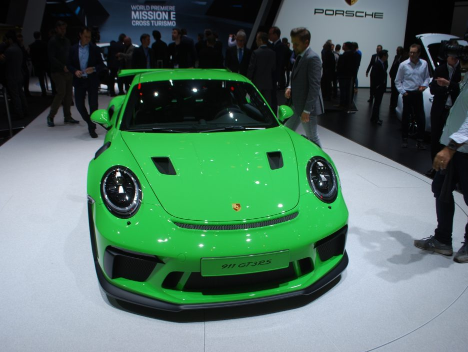 Porsche 911 GT3 RS restyling frontale - Ginevra 2018