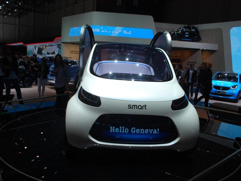Smart vision EQ fortwo concept frontale - Ginevra 2018