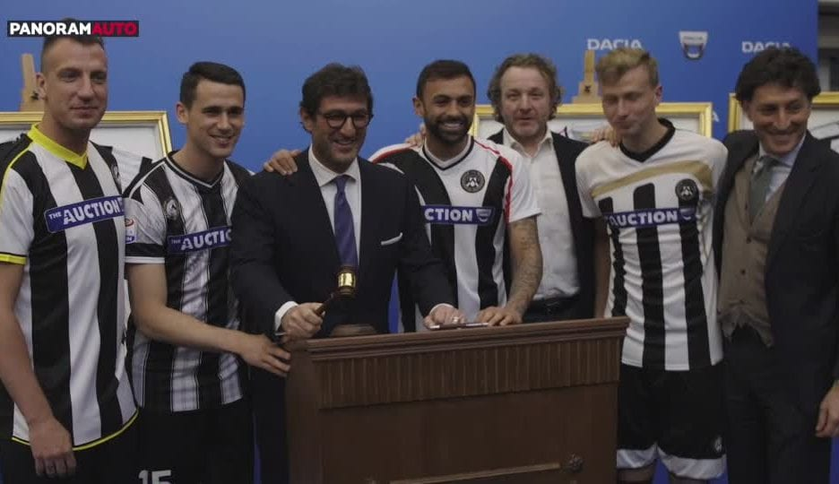 "Dacia, Udinese Calcio e ""Dacia The Auction"""