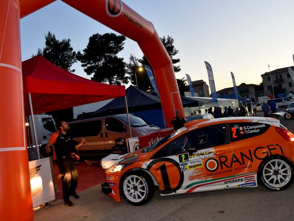 Simone Campedelli, Tania Canton (Ford Fiesta R5 #2, Orange1 Racing)