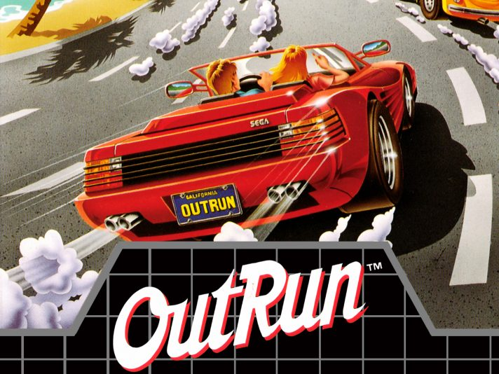 Outrun retro game