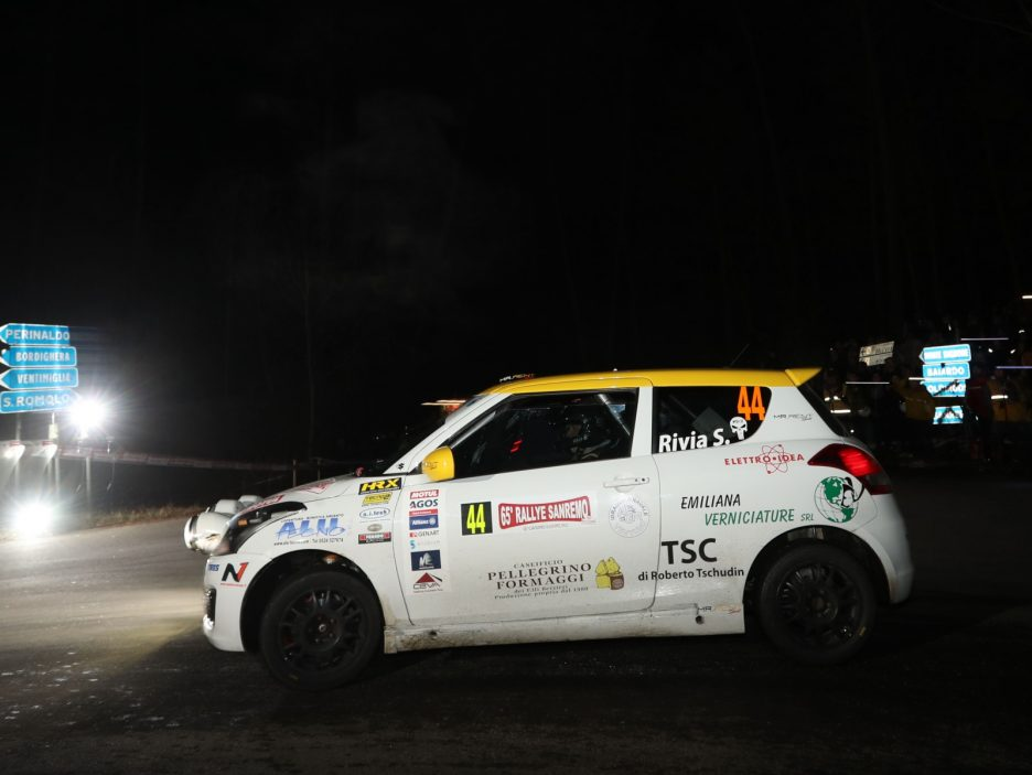 Simone Rivia, Niccolo Faettini (Suzuki Swift #44, Versilia Rally Team)