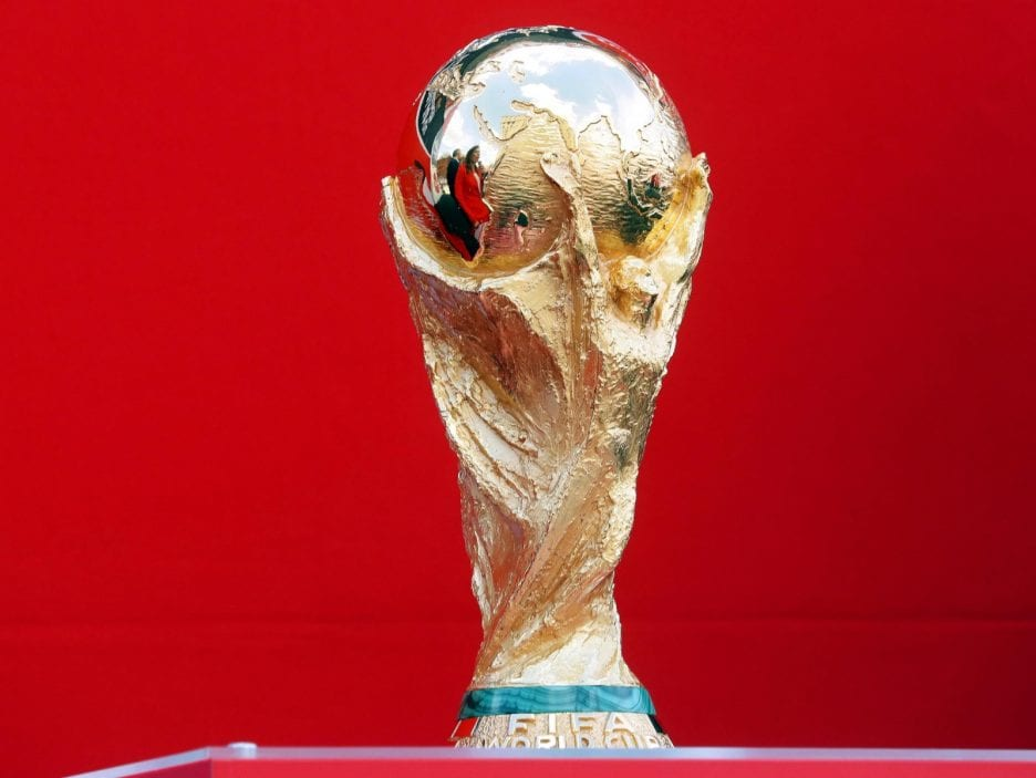 FIFA World Cup trophy arrives in Moscow
