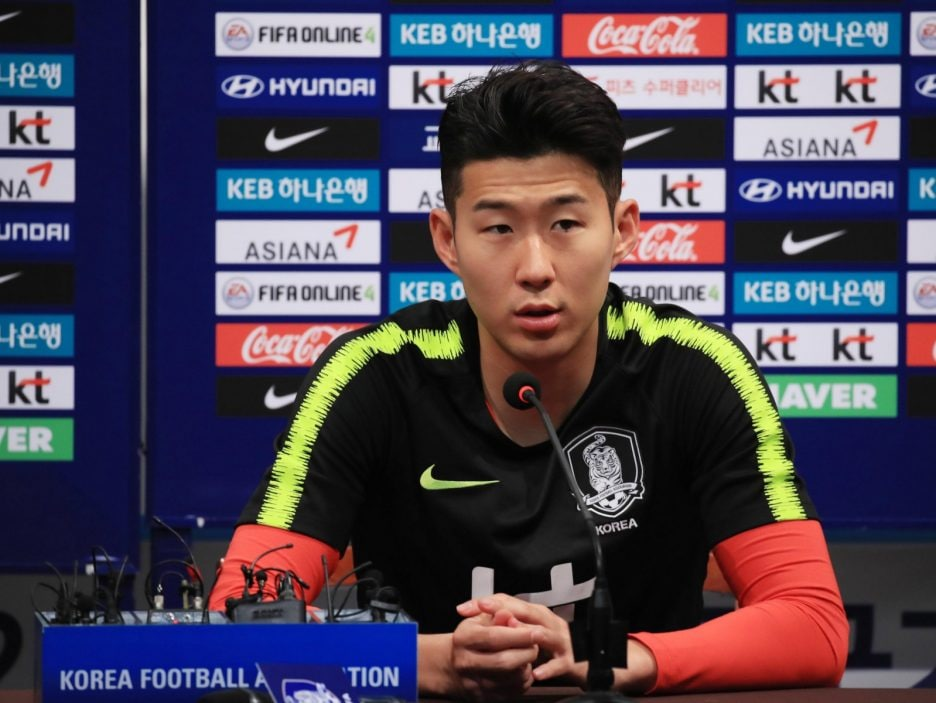 Son Heung-min press conference