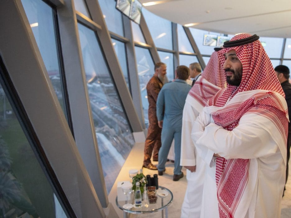 Mohammad Bin Salman attends the Formula One Grand Prix 2018 in Abu Dhabi