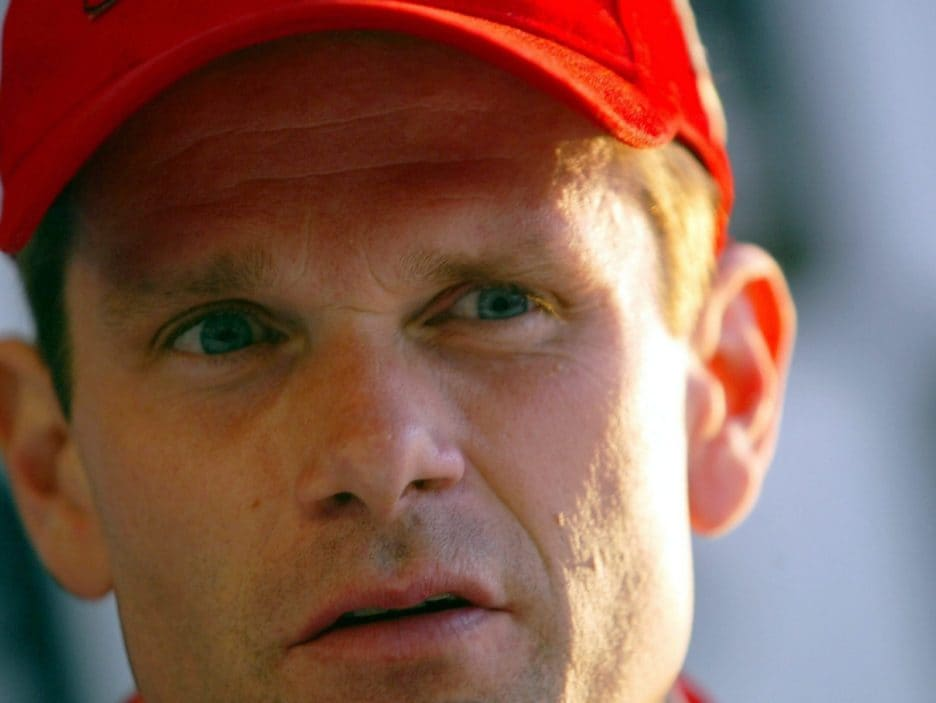 Finnish Peugeot 307 WRC driver Marcus Gronholm listens during a press conference