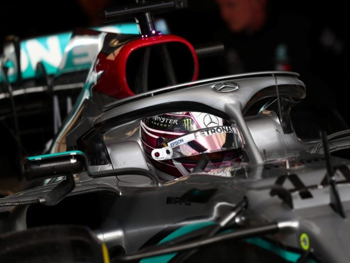 Lewis Hamilton of Great Britain and Mercedes AMG Petronas F1