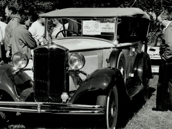 John Davis says his 1933 Hillman Wizard phaeton is the only one left in the world. It has dual winds